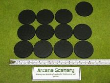 50mm Round bases, Unslotted,