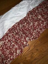 Queen Bed Skirt Floral Ruffle Burnt Orange Rust Color & Ivy J C PENNEY ❤️tw4j2