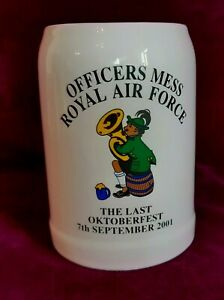 Vintage Last Oktoberfest Sept 2001 Royal Air Force Officers Mess stein