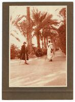 Foto Vintage Piktoralistische 1930 Algerien - Druck Virage -gold - Palmenhain