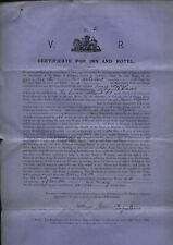 More details for 1897 dumfries v.r. certificate inn & hotel, the swan bank st to jessie wyper