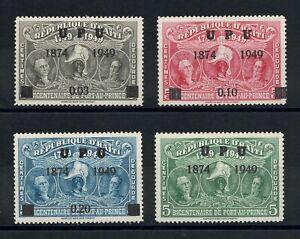 Haiti 1949-50 Set Overprint in Black - Never Used