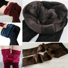 Ladies New Winter Faux Fur Thick Lined Stretchy Thermal Leggings Jeggings Pants