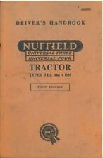 Nuffield Universal 3 & 4 Tractor - Types 3DL & 4DM Operators Manual