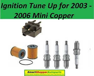 Ignition Tune Up For 2003 - 2006 Mini Copper, Oil Filter Spark Plug Igntion coil