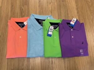 NEW-MENS NAUTICA CLASSIC FIT DECK POLO, STYLE: K01000, ASST COLOR & SIZE $48.50
