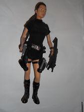 "Lara Croft Tomb Raider rare 12"" action figures back pack holster 2001 Playmates"