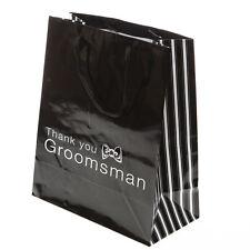 Groomsman Gift Bag Wedding Party Best Man Thank You Black White Favor Sack 7 x 9