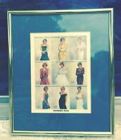 Gold Framed w/#ed COA British Princess Diana Uncut Stamps Africa Togo French