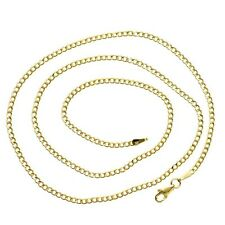 Mens Italian Cuban Link 10K Yellow Gold 24 in Chain 1.96 grams 2 mm Necklace