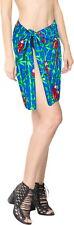 "LA LEELA Women's Half Mini Plus Size Sarong Swimsuit Cover Up 78""x21"" Blue_O259"