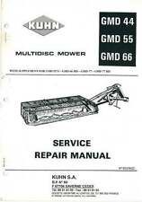 Kuhn Multidisc Mower GMD44 GMD55 GMD66 Workshop Manual