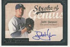 2007 MASTERPIECES STROKE OF GENIUS JUSTIN HAMPSON AUTO
