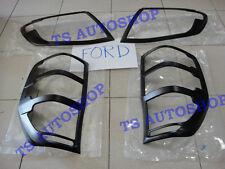 SET MATTE BLACK HEAD+TAIL LAMP LIGHT COVER FOR NEW FORD RANGER 2012 PICK UP V.1