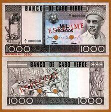 Specimen, Cape Verde, 1000 Escudos, 1977, P-56 (56s) Unc