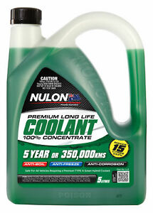 Nulon Long Life Green Concentrate Coolant 5L LL5 fits Daewoo Lanos 1.5, 1.6 16V