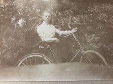 Rare Netherlands Victorian Carte De Visite CDV: Named Family: RÜBSAAN : Bicycle