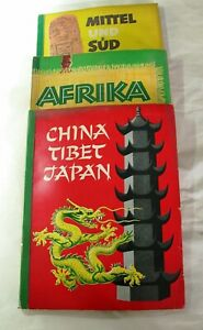Sammelalbum Antik , Sanella , 3 Stück, Afrika, China etc. 1952