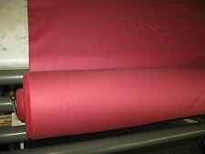 COTTON SATTEEN IN RASPBERRY PINK CURTAIN OR DRAPES FABRIC  // C39