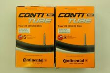 PAIR CONTINENTAL 650c 26 x 1 1/8-26 x 1 1/4 42mm PRESTA VALVE BOXED INNER TUBES