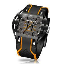 Black & Orange Swiss Watch Wryst Elements PH5 Black DLC Coating Limited Edition