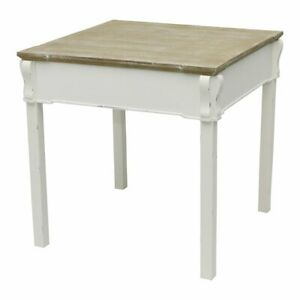 Charles Bentley Shabby Chic Dining Table Vintage French Style-White & Distressed
