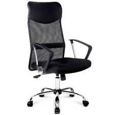 Artiss PU Leather Mesh High Back Office Chair - Black (OCHAIR-G-8009-BK)