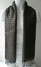 Vintage Mens Prochownick Fringed Silk Front Wool Lined Cravat/Scarf (10028E)