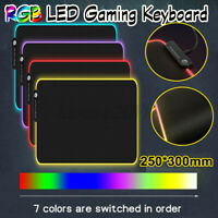 Large Gaming Mouse Pad Non-Slip RGB USB LED Gaming Keyboard Pad Mat