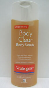 THREE Neutrogena Body Clear Acne Scrub 8.5 OZ.***BARGAIN EXPIRED ITEM***LOT OF 3
