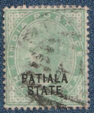 INDIA  PATIALA  STATE 1899/1902    1/2 Anna Good Used   (P25)