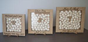 Wedding Drop Box, Rustic Guest Book, Hearts, Oak
