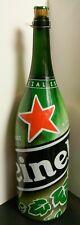 """Special Edition Heineken Beer 3 Liter Champagne Bottle 19.5"""" x 5"""" x 5"""" Excellent"""