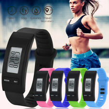 Sport Step Watch Bracelet Pedometer Calorie Counter Digital LeD Walking Distance