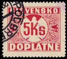 "SLOVAKIA J10 (Mi P10) - Numeral of Value ""Postage Due"" (pa37660)"