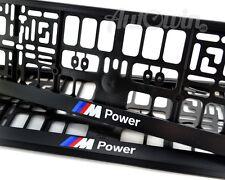BMW X5 Series E70 Euro Standart License Plates Frames with ///M Power Logo 2pcs.