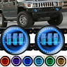 For Hummer H2 2004-2009 4 Inch LED Driving Fog Light Bumper Lamps 6000K IP68 X2