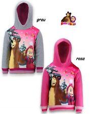 Paw Patrol oder Masha und Bär Mädchen Sweatshirt Pullover Kapuze Gr. 98 - 128