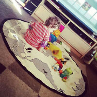 Indoor World Map Baby Crawling Mat Sports Playing Mats Soft Cotton Kids Carpet