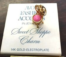 Avon Fashion Accents in Jewelry Sweet Shoppe Charm 14KT Gold Electroplated 1973