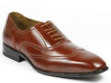 Delli Aldo Men's Brown Lace Up Wing Tip Dress Classic Oxford Shoes 9 us M-19125
