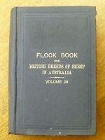 Flock book for British breeds of sheep in Australia: V.29 (HB, 1937)
