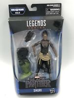 "NEW MARVEL LEGENDS SERIES BLACK PANTHER SHURI 6"" + BAF FIGURE HULK LEG PIECE TOY"