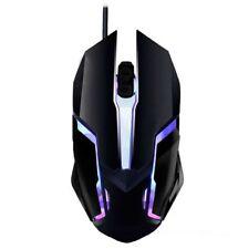 Mouse Ottico Cablato da gioco.Pro gamer PC.Ergonomico anti scivolo.Luci LED RGB