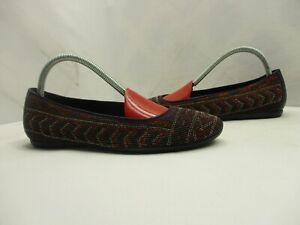 Donald J Pliner Hasin Multi Color Beaded Ballet Shoes Flats Womens Size 7 M