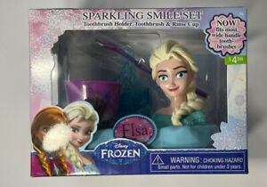 Frozen Elsa Toothbrush Sparkling Smile Set 3 Piece
