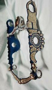 "Vintage German Silver Santa Barbara Show Bit B-1549GS MP-03 Blued (5 1/4"" MP)"
