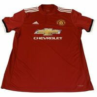 Manchester United Home Shirt Jersey 2017 2018 Large L Adidas Chevrolet Red