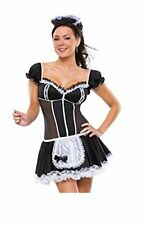 Sexy Women Novelty Darque French Maid Costume Dress uk 6 to 8
