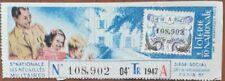 Billet de loterie nationale 1947 4e tranche A - LES MÉDAILLÉS MILITAIRES - 1/10